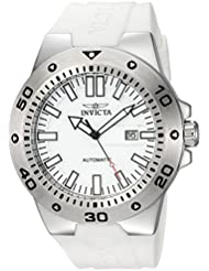 Invicta Mens Pro Diver Automatic Stainless Steel and Polyurethane Casual Watch, Color:White (Model: 23485)