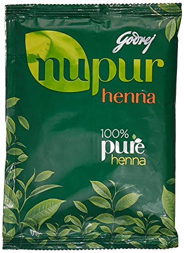 Godrej Nupur Mehendi Powder 9 Herbs Blend, 4.23 Ounce