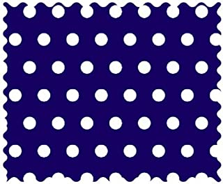 product image for SheetWorld 100% Cotton Percale Fabric by The Yard, Polka Dots Royal, 36 x 44