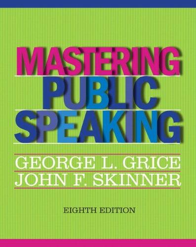Mastering Public Speaking 8th Edition