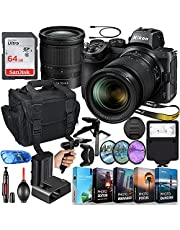 Nikon Z5 Mirrorless Digital Camera with 24-70mm Lens Bundle + 64GB High Speed Memory + Slave Flash, Padded Shoulder Bag, Hand Grip Tripod, HD Filters, Video/Photo Editing Software Package & More