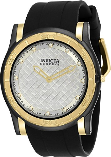 Invicta Men's 'Reserve' Quartz Stainless Steel and Silicone Casual Watch, Color:Black (Model: 23948)