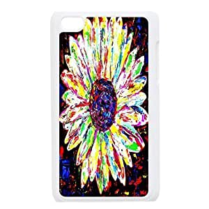 Custom Daisy,Sunflower Design Plastic Case Protector For Ipod Touch 4 4th Generation