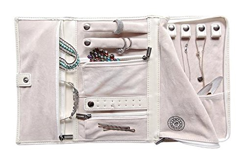 Saffiano Leather Travel Jewelry Case - Jewelry Organizer [Petite] by Case Elegance by case Elegance (Image #1)