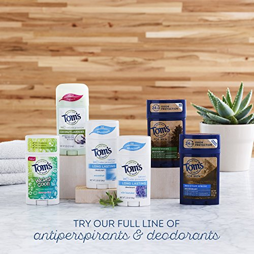 Tom's of Maine Natural Long Lasting Deodorant Multi Pack, Tea Tree, 3 Count
