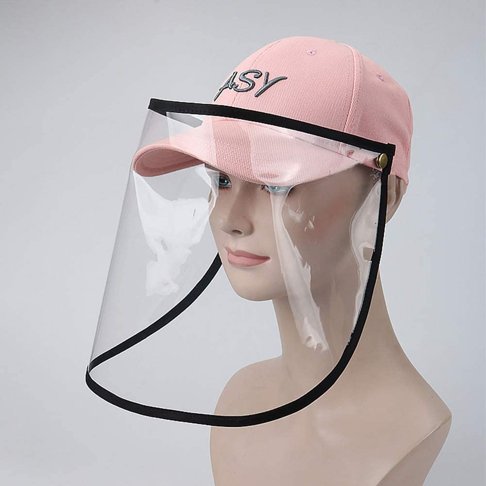 ELEYHO - Gorra de béisbol con protección antigotas para el sol, con visera extraíble, de algodón, para pasear al perro, ir de compras, montar a caballo, trabajar, D, 1