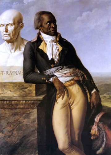 "Anne-Louis Girodet De Roucy-Triosson Portrait of J. B. Belley, Deputy for Saint-Domingue - 18.1"" x 27.1"" Peel & Stick Removable Wall Decal"