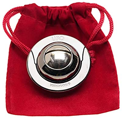 UFO Hanayama Brain Teaser Puzzle - New 2019 Release || Level 4 Difficulty Rating || Bonus RED Velveteen Drawstring Pouch