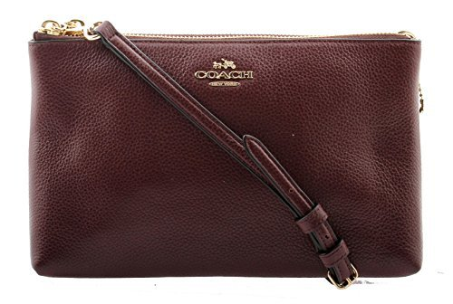 Coach Pebble Leather Lyla Crossbody in Oxblood 1, F38273 IML7C by Coach