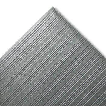 Crown Ribbed Antifatigue Mat, Vinyl, 27 x 36, Gray ()