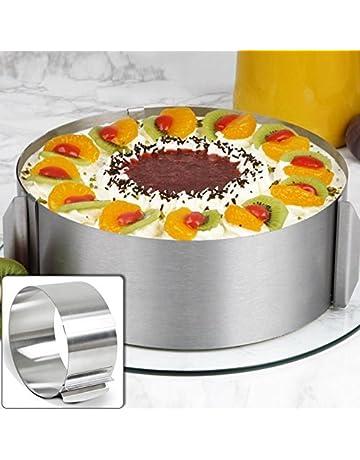 Molde redondo de acero inoxidable Izn para tartas, 16-30 cm
