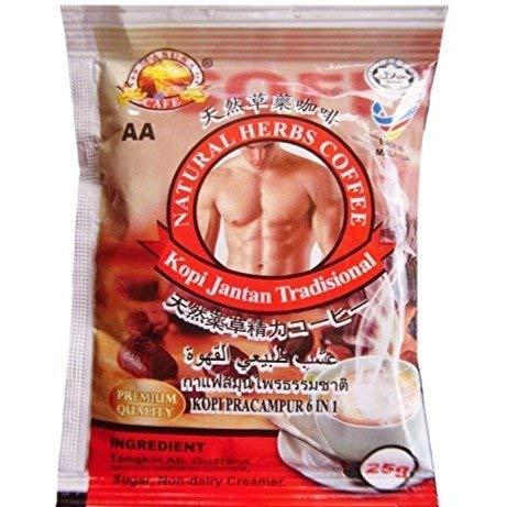 10 Packs Natural Herbs Tongkat Ali Coffee Men Sexual Wellness Grade 'A' (Best Herbs For Men)
