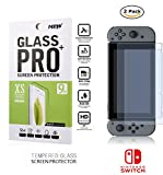 Tempered Glass Twin Pack 9H Film Anti-Glare Screen Protector for Nintendo Switch Console Video Games Accessories