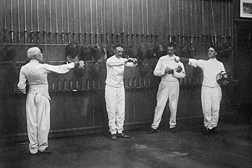 Fencers Club 4 men in uniform Poster Print (18 x 24)