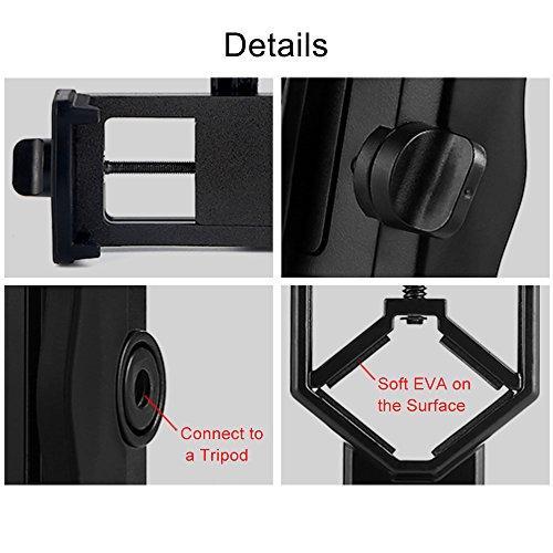 Eyeskey Universal Phone Spotting Scope Adapter Mount Compatible Telescope, Spotting Scopes, Binoculars, 106g (3.75oz) ...