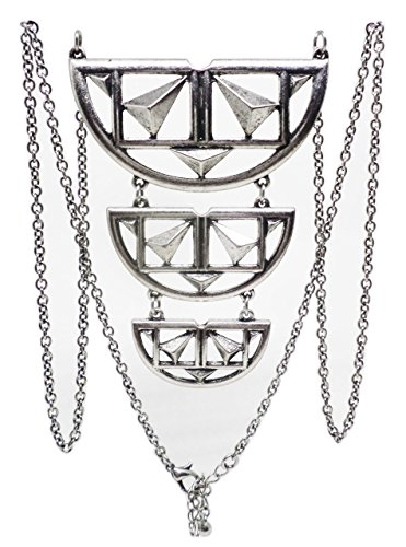 Aztec Goddess Long Chain Tier Necklace