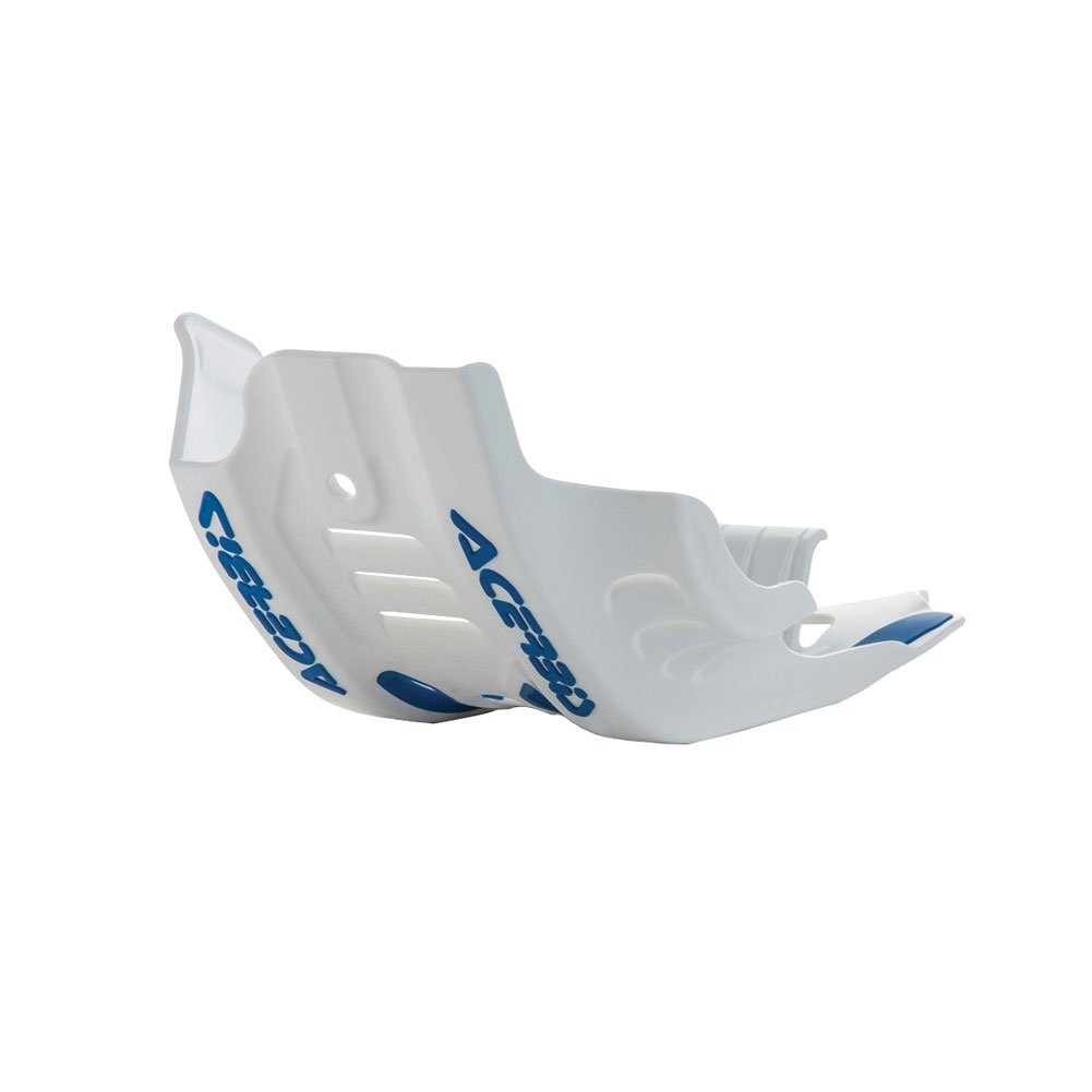 Acerbis Plastic MC Skid Plate with Linkage Guard White/Blue - Fits: KTM 450 XC-F 2016-2018