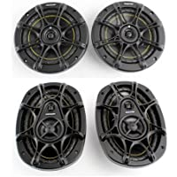 2) Kicker DS60 6.5 200 Watt 2-Way +2) Kicker DS693 6x9 280W 3-Way Car Speakers
