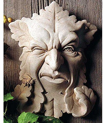 Amazon.com : Cast Stone Leaf Face Indoor Outdoor Bee Plaque Sculpture    Buzz Off : Garden U0026 Outdoor