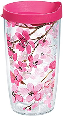 Tervis 1261039 Japanese Cherry Blossom Tumbler, 16 oz, Clear