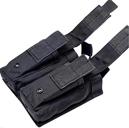 LefRight Molle Magazin Pouch Open-Top Doppel Pistole Magazintasche Patrone Clip Tasche Beutel schwarz CPhRAB