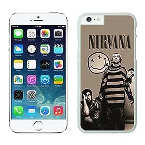 NEW DIY Unique Designed Case For iphone 6 plus Nirvana iphone 6 plus White 5.5 TPU inch Phone Case 316
