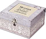 Mother Square Periwinkle Belle Papier Jewelry Music Box - Plays Song Wind Beneath Wings