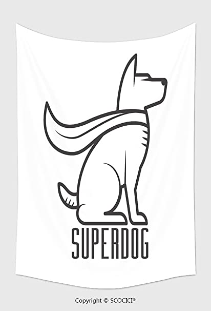 Amazon Com Home Decor Tapestry Wall Hanging Superdog Logo Or Label