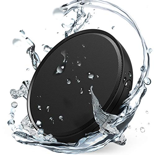 Kinps Bluetooth Speaker SoundCircular Premium Sound, 10W Powerful Bass and Treble, 32 Hours Play Time, IPX8 Waterproof Certified, Portable Wireless Stereo Speaker, Bluetooth V4.1, 360°Sound(Black)