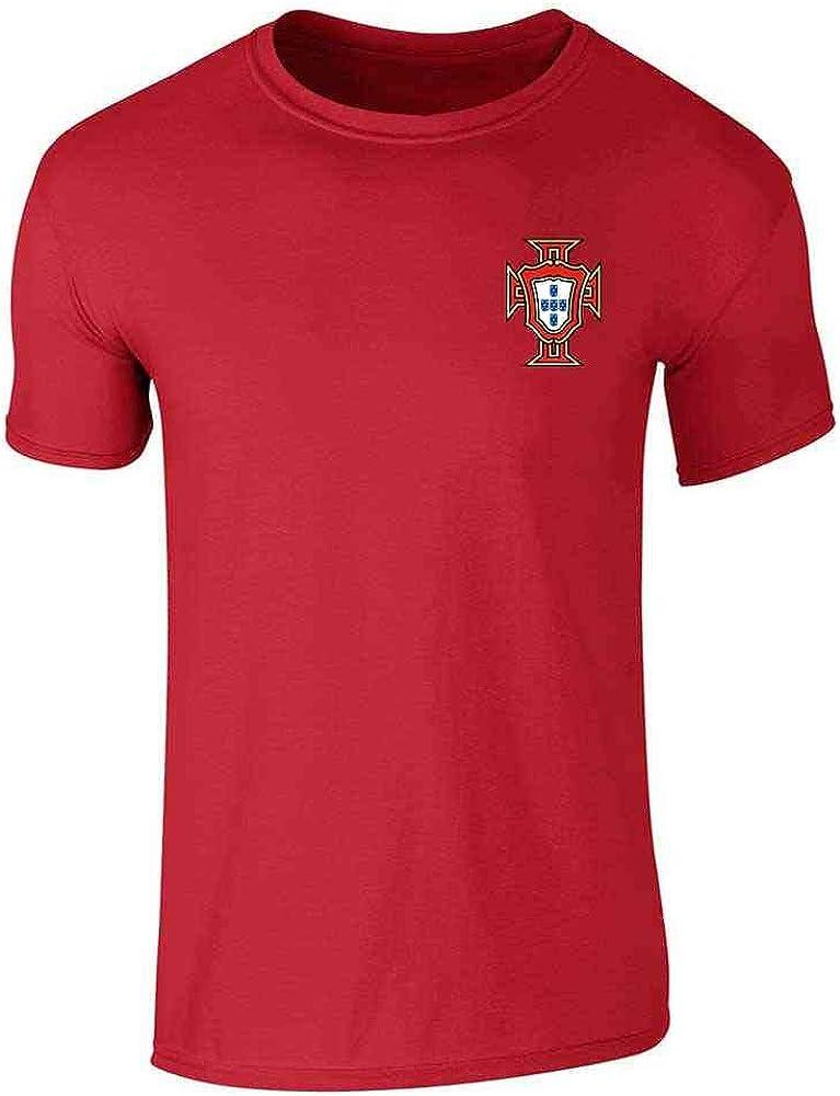 Retro Portugal Football T Shirt Badge World Cup Men Women Kid Fan 2018 Flag