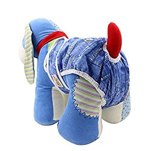 OHBABYKA Premium Washable Male and Female Dog Diapers of Durable Doggie Diapers for Pets (M)