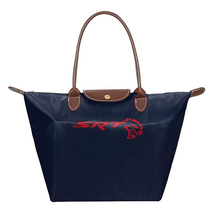 SRT Mopar Dodge Waterproof Leather Folded Messenger Nylon Bag Travel Tote Hopping Folding School Handbags