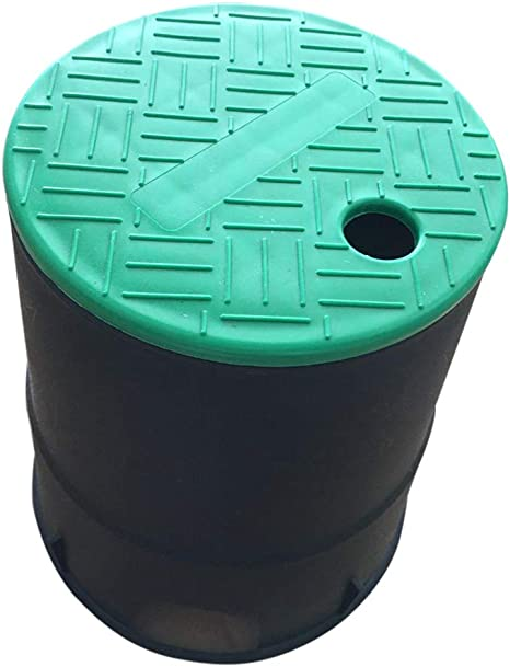 Yardwe Valve Box for Grade Irrigation Sprinkler System with Overlapping Cover 6 Inch