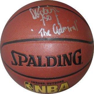 (David Robinson Autographed Basketball - Indoor Outdoor The Admiral Beckett Hologram) - Beckett Authentication)