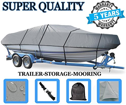 Boat Cover for CRESTLINER Fish Hawk 1650 SC O/B 2001-2015 Heavy-Duty