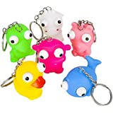"Rhode Island Novelty 2.4"" Googly-Eyed Animal Key Chains"