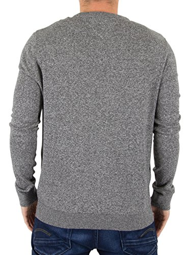 ... Hilfiger Denim Herren Pullover Thdm Basic CN Sweater 11 Grau (Dark Grey  Htr 075) ...