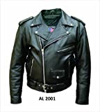 Men's AL2001 Basic M.C. jacket 44 Black