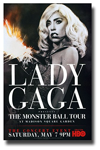 Lady Gaga Poster Concert Promo 11 x 17 inches The Monster Ball Tour HBO