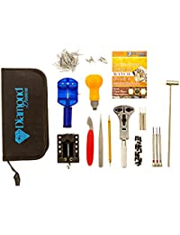 147 Pcs Portable Professional Watch Repair Tool Kit Set Solid Hammer Spring Bar Watchmaker with Manual