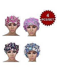 Opromo Womens Bleach Friendly Banded Adjustable Scrub Cap Sweatband Bouffant Hat