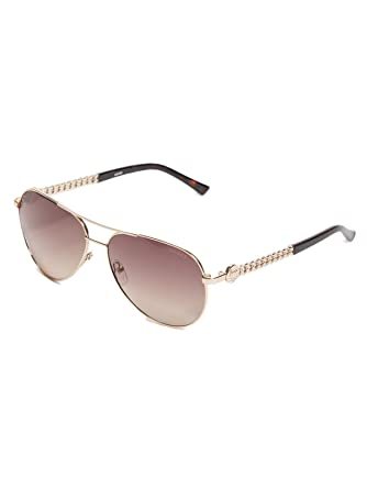 3aa7af8df10 Image Unavailable. Image not available for. Color  GUESS Factory Women s  Logo Aviator Sunglasses