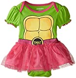 Nickelodeon Baby Baby-Girls Infant Ninja Turtle Character Theme Bodysuit with Tutu Skirt, Green, 0-3 Months