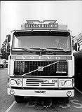 Vintage photo of Bilspedition truck Volvo F12 intercooler