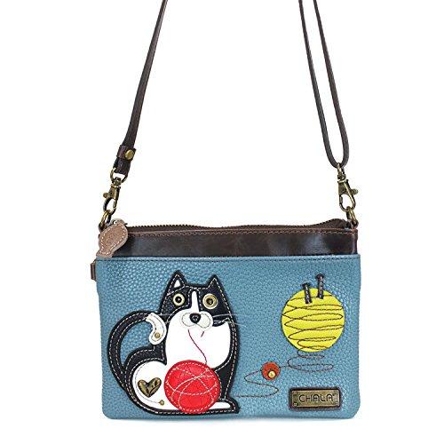 Zipper Purse Fat Cat Handbag Strap Shoulder Small Pu Crossbody Mini Adjustable Multi Leather Chala wxzCqIUpS