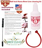 Homebrew Line Cleaning Kit fits Ball Lock Disconnects ONLY by Kegconnection
