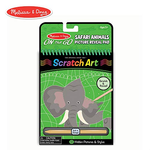 Melissa & Doug On the Go Scratch Art Hidden-Picture Pad - Safari Animals