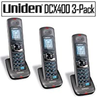 Uniden DCX400 DECT 6.0 Cordless Accessory Phone Handset 3-pack Bundle