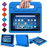 BMOUO Case for All Fire HD 8 2017/2018 - Light Weight Shock Proof Convertible Handle Kid-Proof Cover Kids Case for All Fire HD 8 Tablet (7th and 8th Generation, 2017 and 2018 Release), Blue