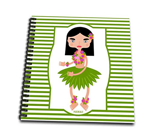 Lei Mini (3dRose db_160613_3 Hawaii is Represented x A Cute Hawaiian Girl with Black Hair and Flower Necklace Or Lei Mini Notepad, 4